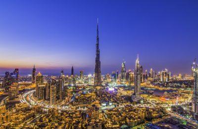 Burj Khalifa tallest building in the world.Dubai cityscape.
