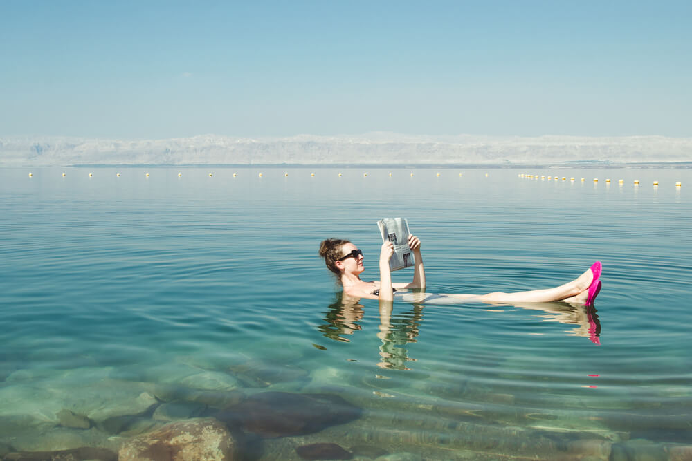 Dead Sea enjoy summer sun and vacation