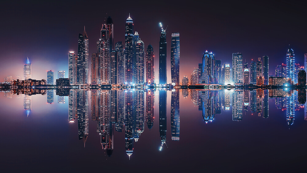 Dubai Marina reflection