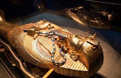 Golden tomb of Egyptian pharaoh