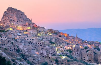 Nevsehir cave city in Cappadocia, Turkey