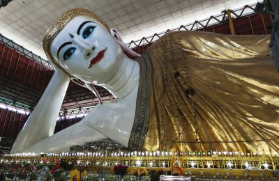Bago, MYANMAR Shwethalyaung Reclining Buddha on Feburary 3, 2016 in Bago, Myanmar. It is the most famous reclining buddha in Bago, Myanmar.