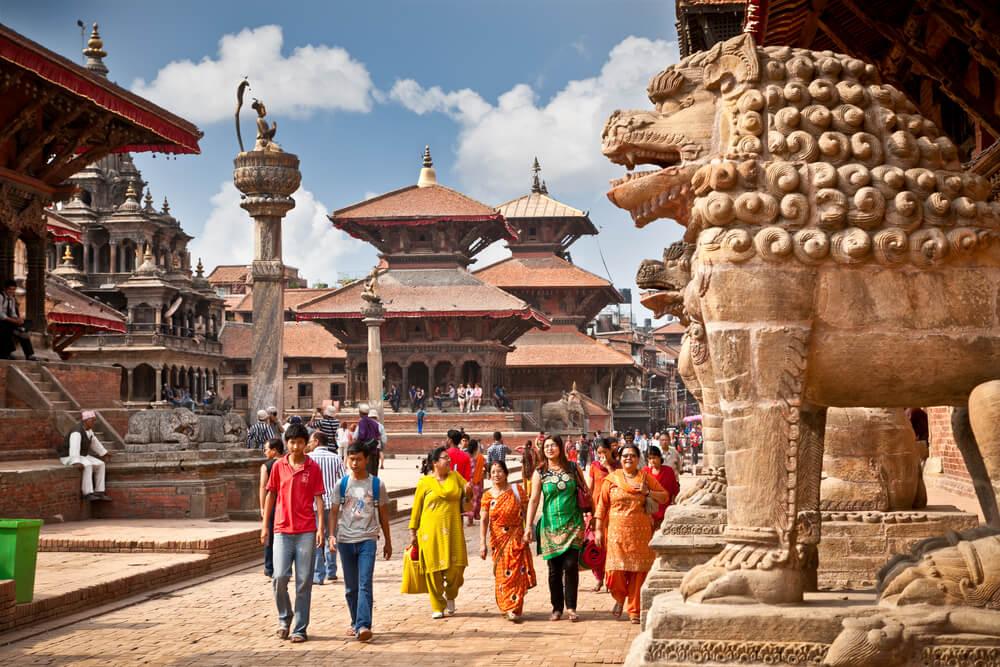 Street at the Durbar Square,Lalitpur city,Kathmandu valley, Nepal